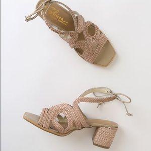 """Woven 2.5"""" heels - NWT"""